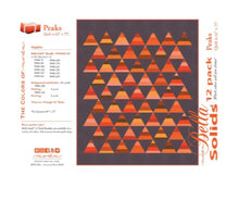Load image into Gallery viewer, Moda Bella Solids Cotton Fat Quarter Bundle: Orange with free quilt pattern