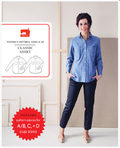 Women's Classic Shirt Paper Sewing Pattern by Liesl + Co