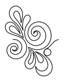 Edge-to-Edge Quilting Service - Swirls Paisley