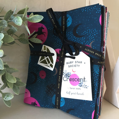 Crescent and Brushed Half Yard Fabric Bundle by Sarah Watts - Ruby Star Society