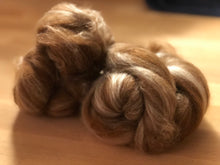 Load image into Gallery viewer, Alpaca/Merino/Silk Batt Knots (Sarge), 1 oz.