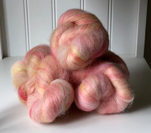 """Sunrise with Cinnamon"" Batt Knots, 1 oz."