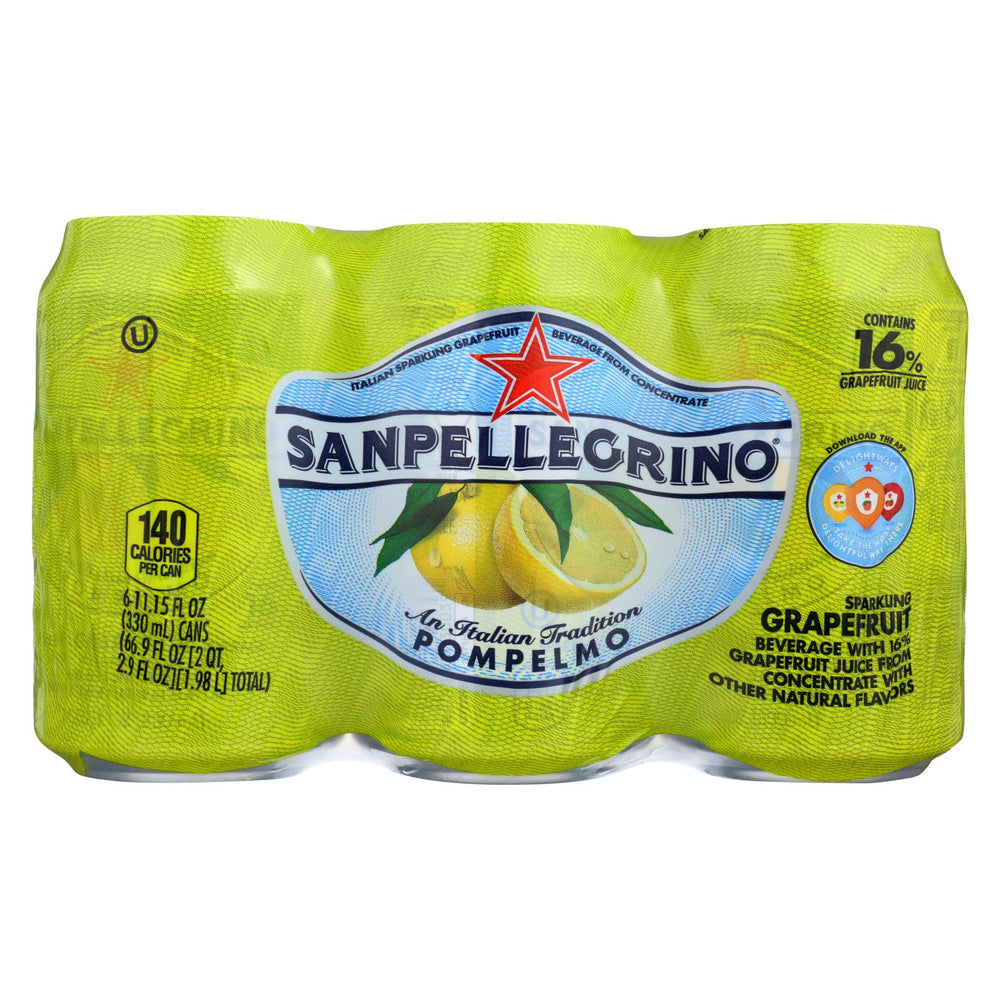 San Pellegrino Sparkling Water - Pompelmo Grapefruit - Case Of 4 - 11.1 Fl Oz.