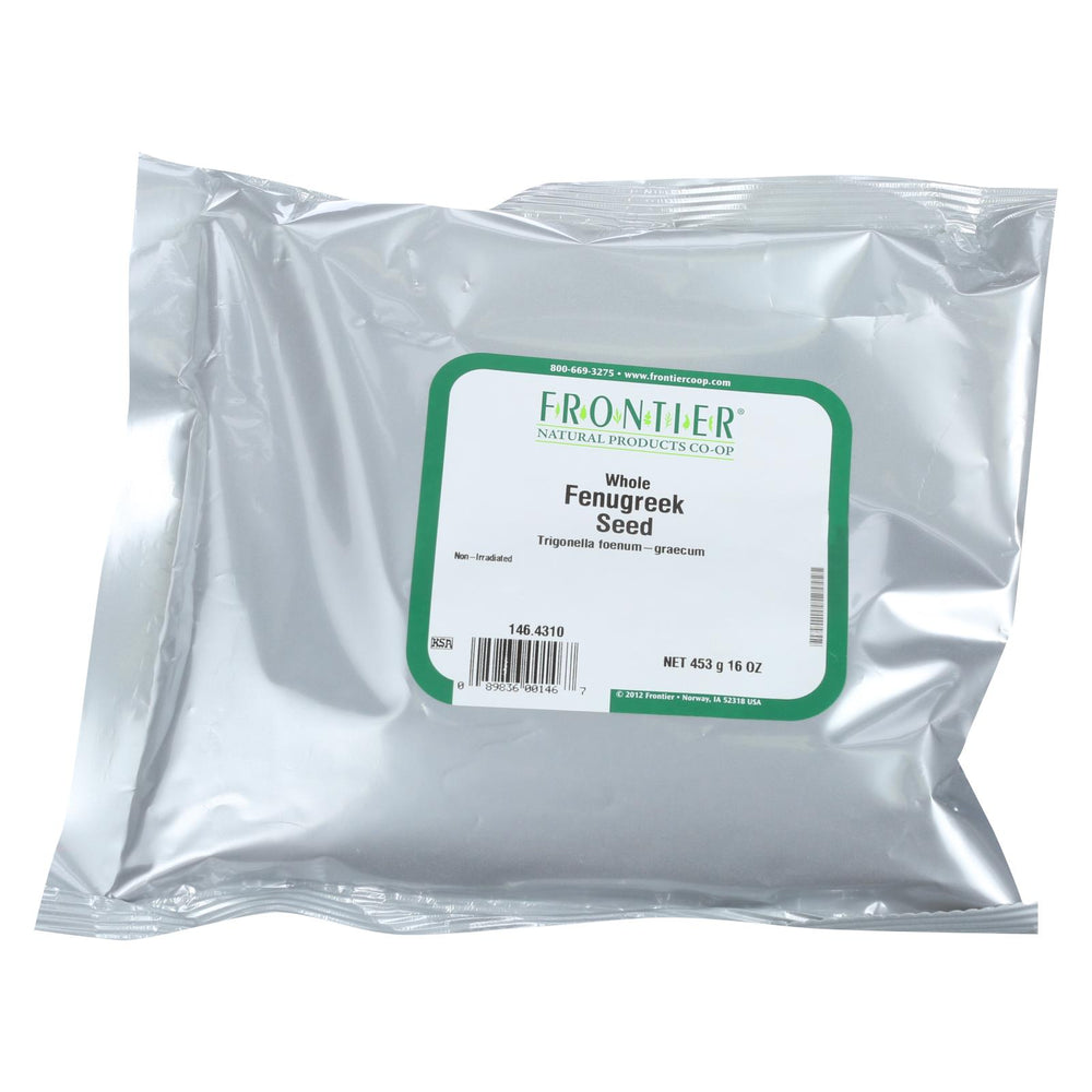 Frontier Herb Fenugreek Seed - Whole - Bulk - 1 Lb