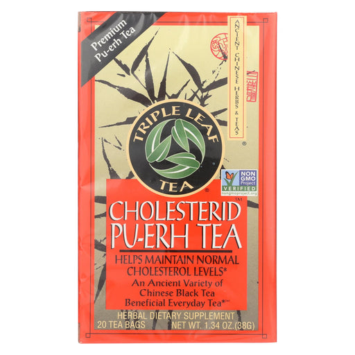 Triple Leaf Tea Cholesterid - 20 Tea Bags - Case Of 6