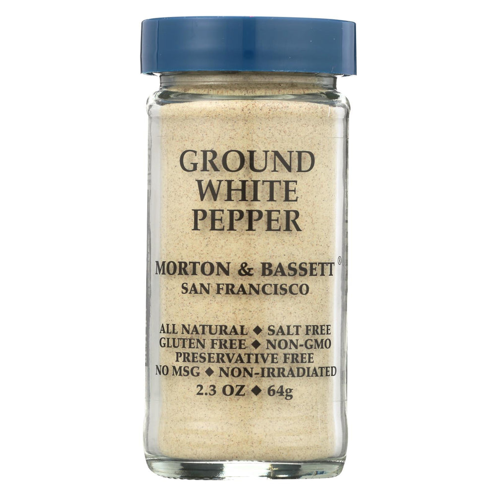 Morton And Bassett Seasoning - Pepper - Ground - White - 2.3 Oz - Case Of 3