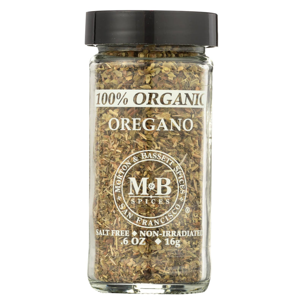 Morton And Bassett 100% Organic Seasoning - Oregano - .7 Oz - Case Of 3