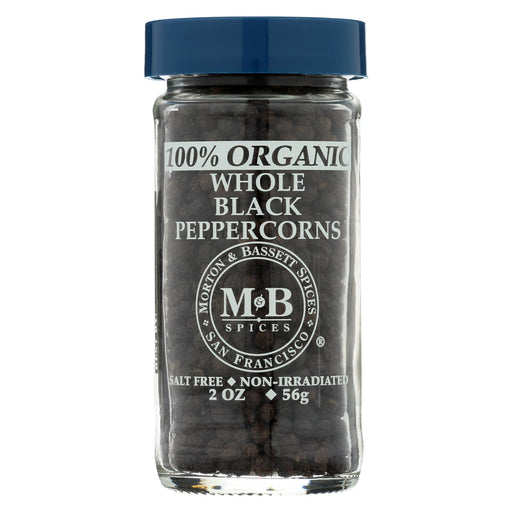 Morton And Bassett Whole Black Pepper - Black Paper - Case Of 3 - 2 Oz.