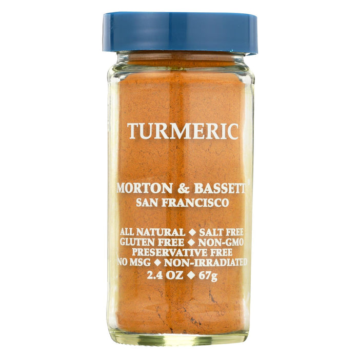 Morton And Bassett Seasoning - Tumeric - 2.4 Oz - Case Of 3