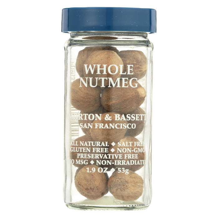 Morton And Bassett Seasoning - Nutmeg - Whole - 2.2 Oz - Case Of 3