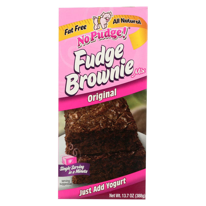 No Pudge Fudge Brownie Mix - Original - Case Of 6 - 13.7 Oz.