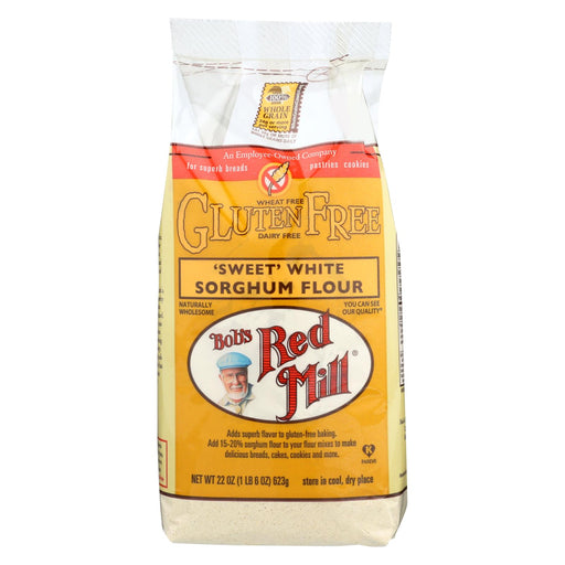 Bob's Red Mill Gluten Free Sweet White Sorghum Flour - 22 Oz - Case Of 4