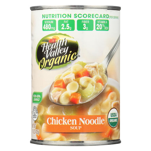 Health Valley Organic Soup - Chicken Noodle, No Salt Added - Case Of 12 - 15 Oz.