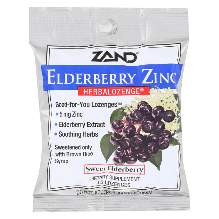 Zand Elderberry Zinc Herbal Lozenge - Case Of 12 - 15 Count