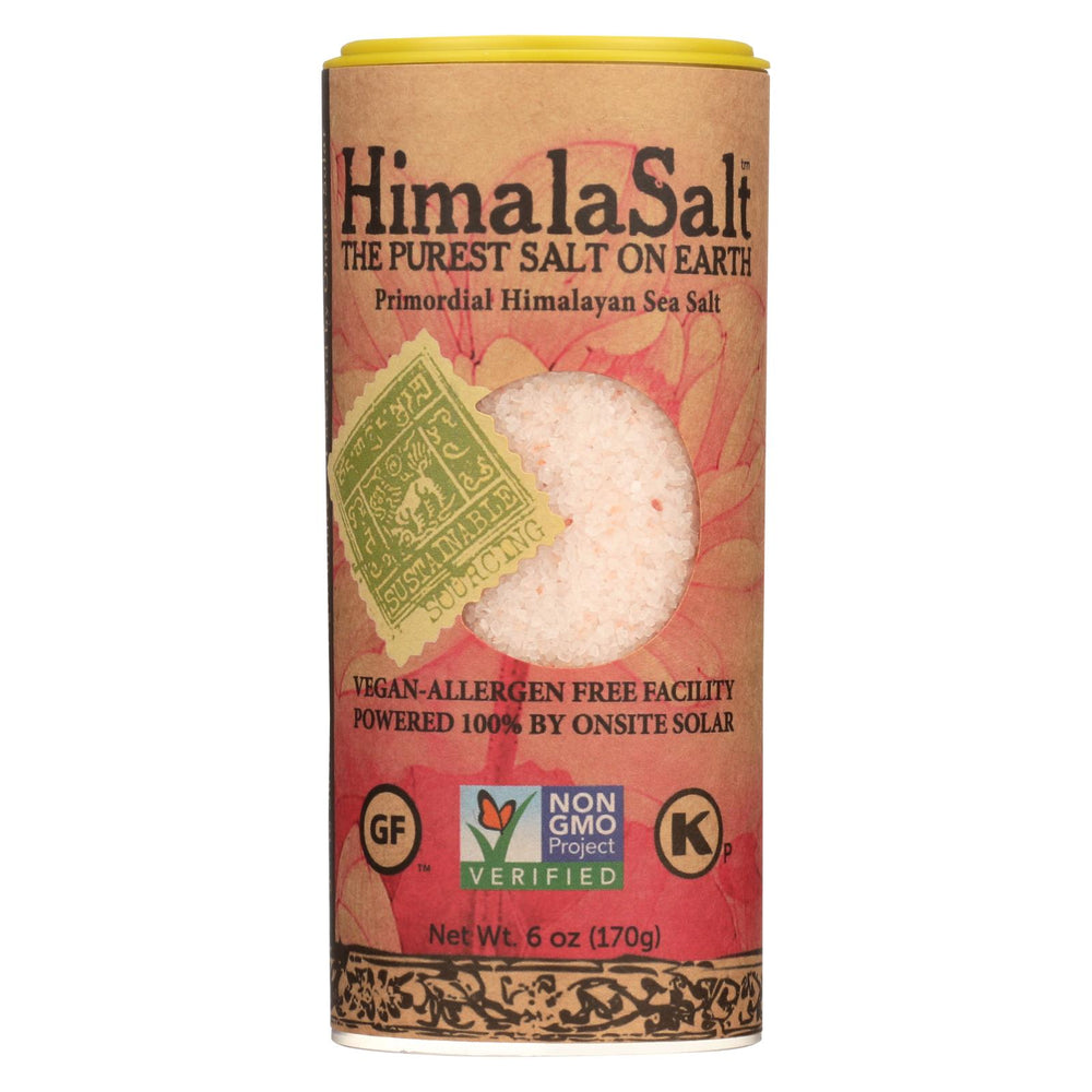 Himalasalt Primordial Himalayan Sea Salt - Fine Grain - Shaker - 6 Oz - Case Of 6
