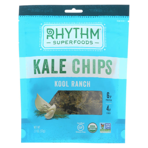 Rhythm Superfoods Kale Chips - Kool Ranch - Case Of 12 - 2 Oz.