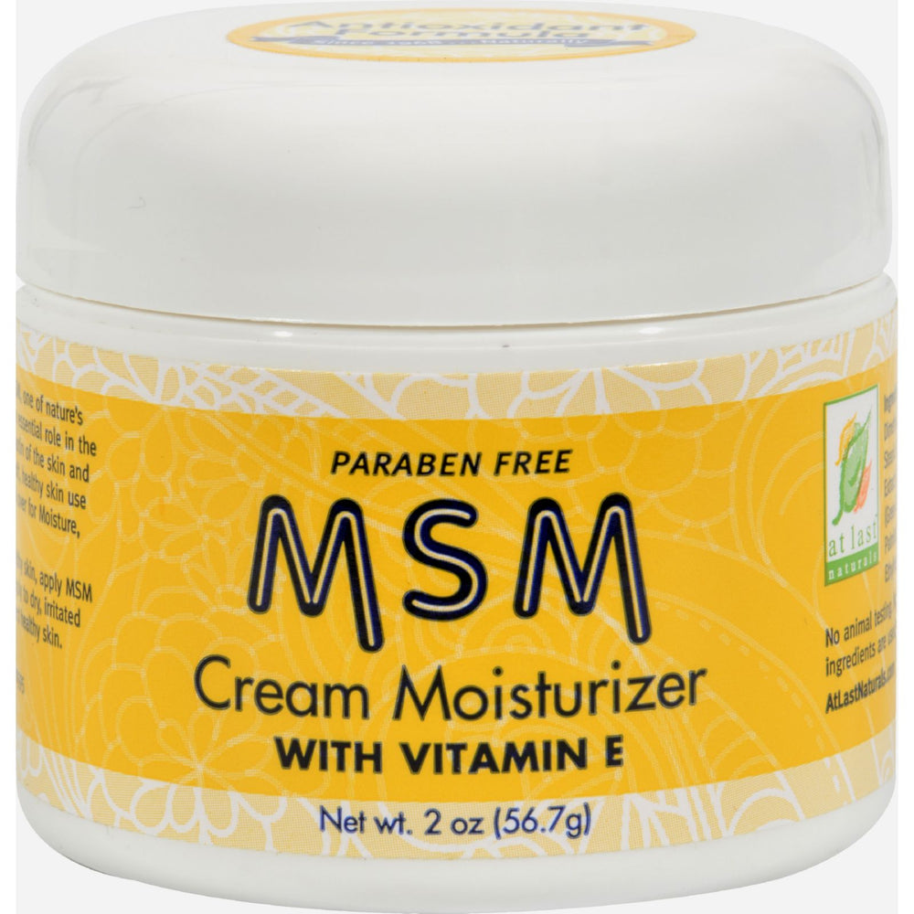 At Last Naturals Msm Moisturizer Cream With Vitamin E - 2 Oz.