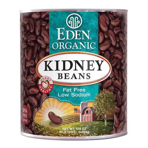 Eden Foods Organic Kidney Beans - Case Of 6 - 108 Oz.