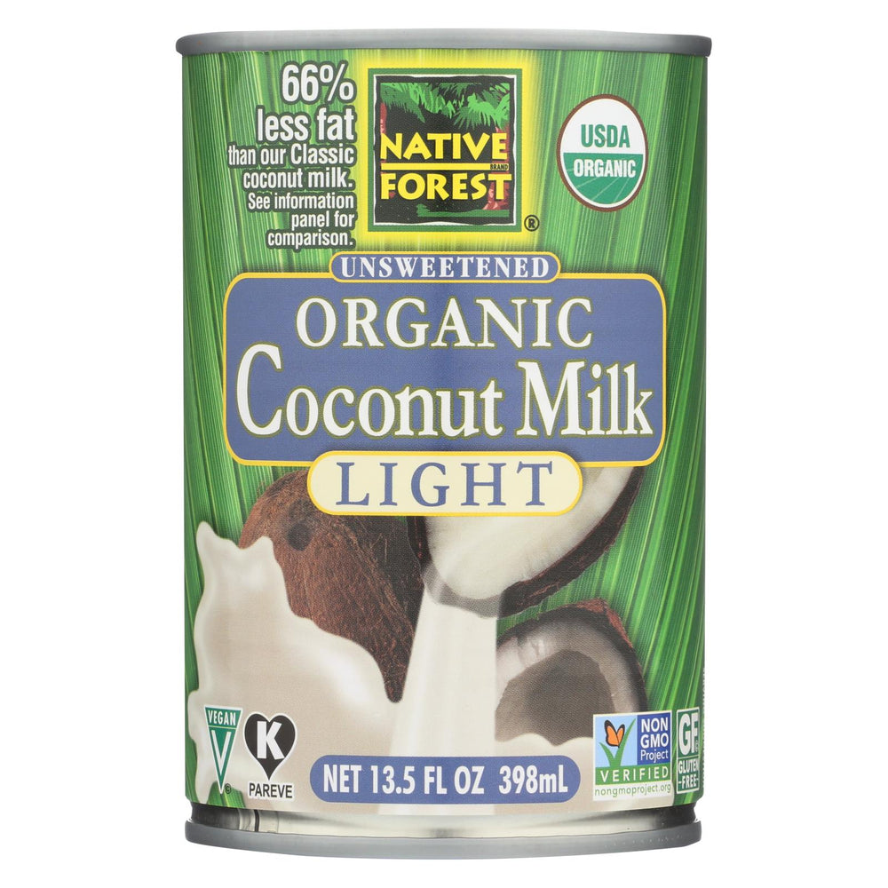 Native Forest Organic Light Milk - Coconut - Case Of 12 - 13.5 Fl Oz.