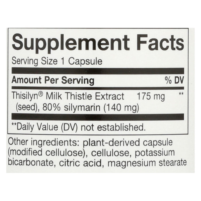 Nature's Way Thisilyn Standardized Milk Thistle Extract - 100 Capsules