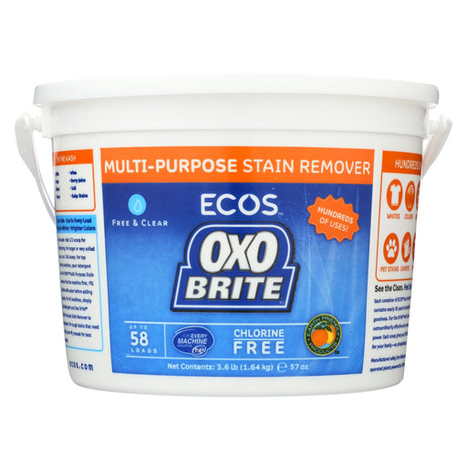Earth Friendly Free And Clear Oxobrite Multi - Purpose Stain Remover - Case Of 6 - 3.6 Lb.