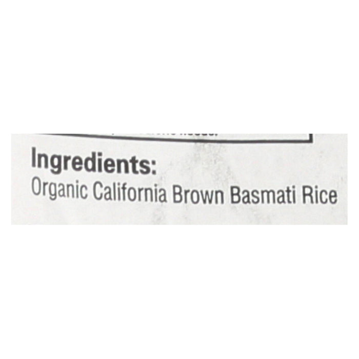 Lundberg Family Farms Organic Rice - Brown Basmati - Case Of 25 - 1 Lb.