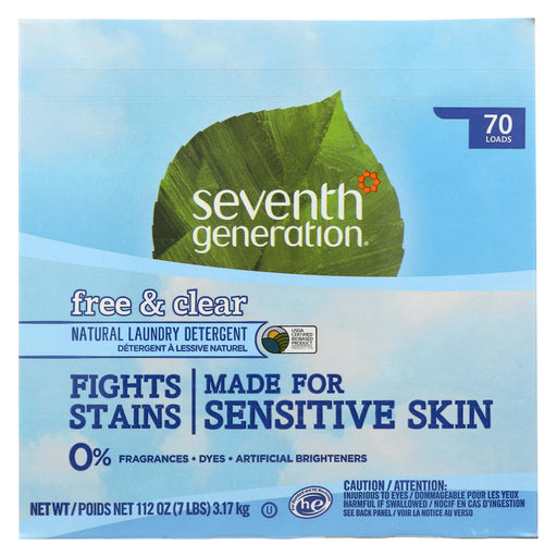 Seventh Generation Natural Laundry Detergent Powder - Free And Clear - Case Of 4 - 112 Oz.