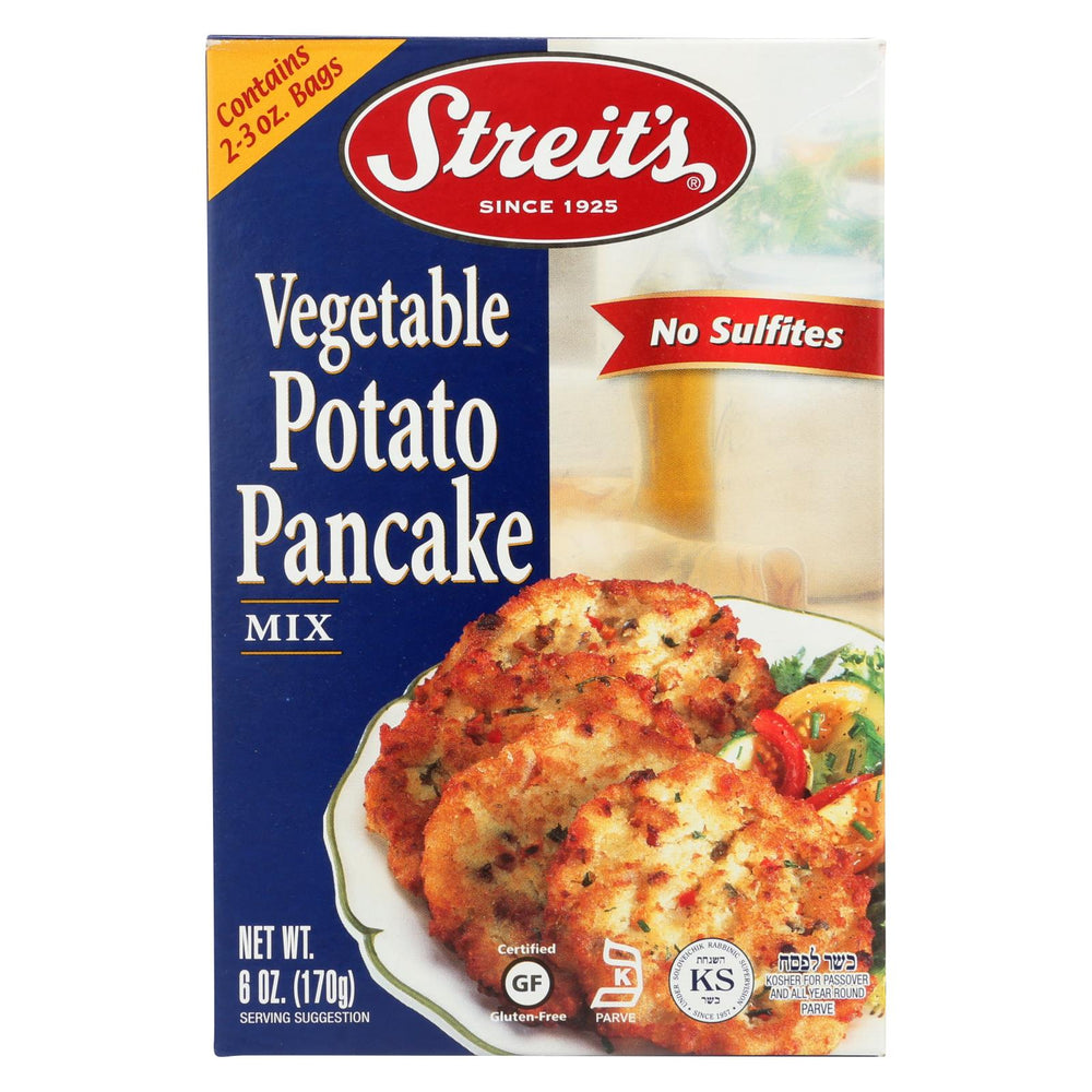 Streit's Pancake Mix - Vegetable Potato - Case Of 12 - 6 Oz.