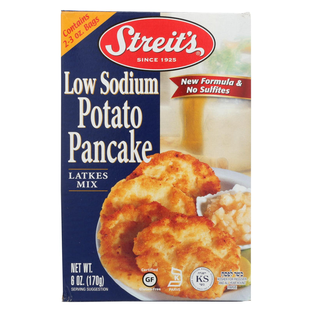 Streit's Potato Pancake Mix - Low Sodium - Case Of 12 - 6 Oz.