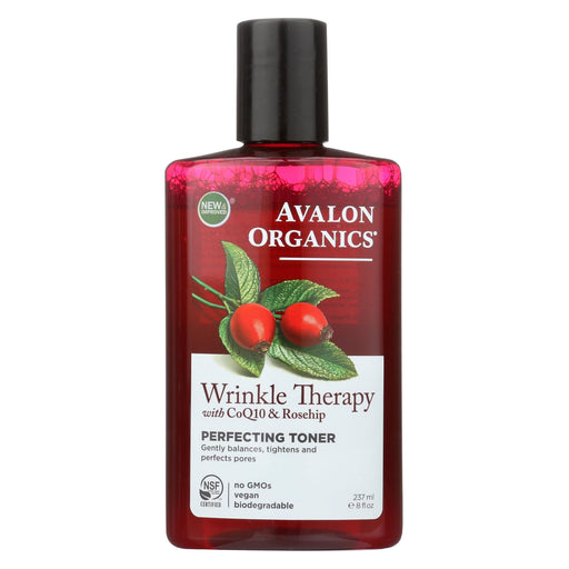 Avalon Organics Wrinkle Therapy With Coq10 And Rosehip Perfecting Toner - 8 Fl Oz