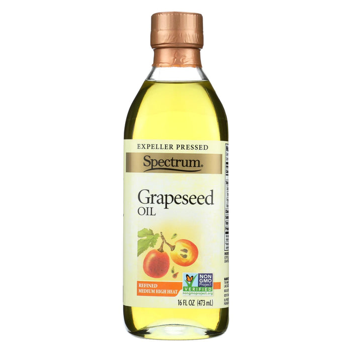 Spectrum Naturals Refined Grapeseed Oil - Case Of 12 - 16 Fl Oz.