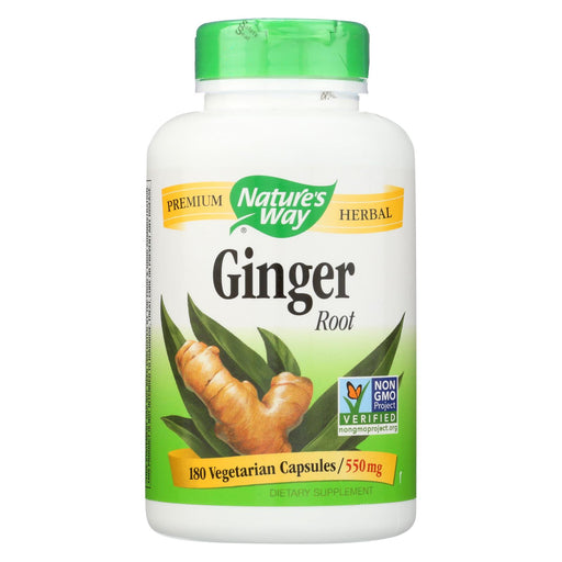 Nature's Way Ginger Root - 180 Capsules