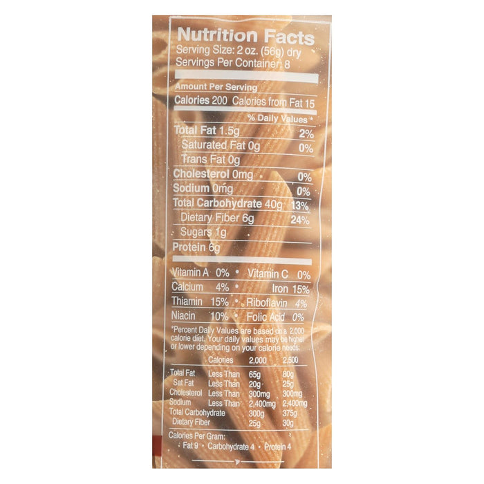 Delallo Organic Whole Wheat Penne Rigate Pasta - Case Of 16 - 1 Lb.