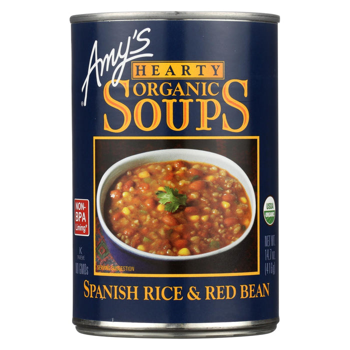 Amy's Organic Spanish Rice & Red Bean Soup - Case Of 12 - 14.7 Oz