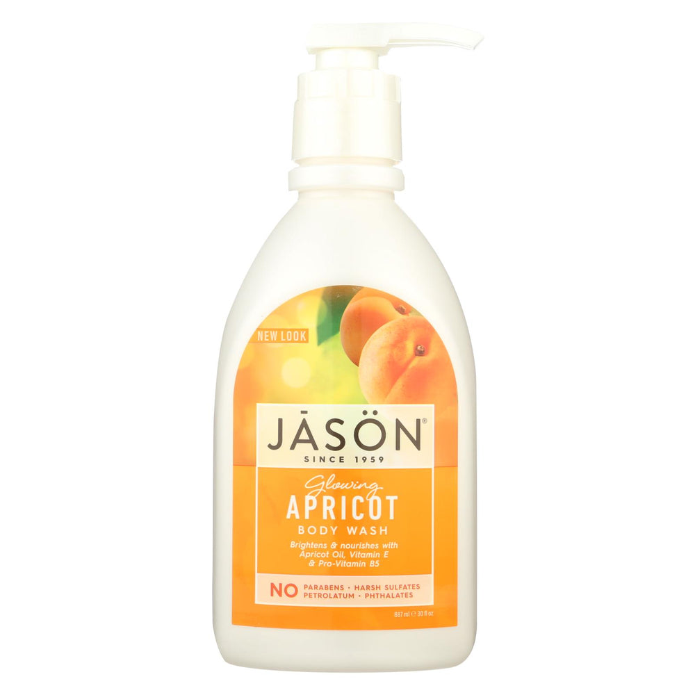 Jason Satin Shower Body Wash Apricot - 30 Fl Oz