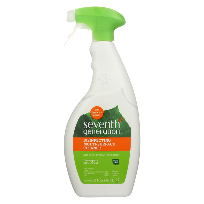 Seventh Generation All Purpose Natural Cleaner - Free And Clear - Case Of 8 - 26 Fl Oz.