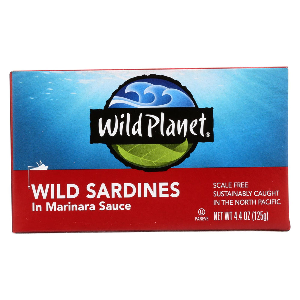 Wild Planet Sardines - Marinara Sauce - Case Of 12 - 4.375 Oz.