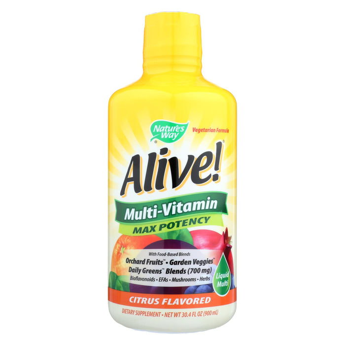 Nature's Way Alive Liquid Multi Citrus - 30 Fl Oz