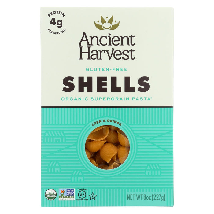 Ancient Harvest Organic Gluten Free Quinoa Supergrain Pasta - Shells - Case Of 12 - 8 Oz