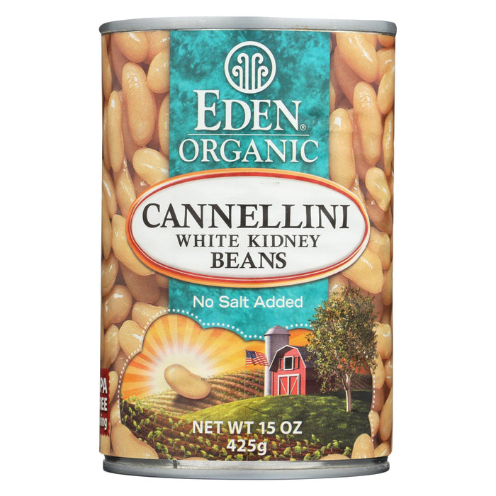 Eden Foods Organic Cannellini White Kidney Beans - Case Of 12 - 15 Oz.