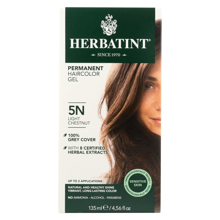 Herbatint Permanent Herbal Haircolour Gel 5n Light Chestnut - 135 Ml