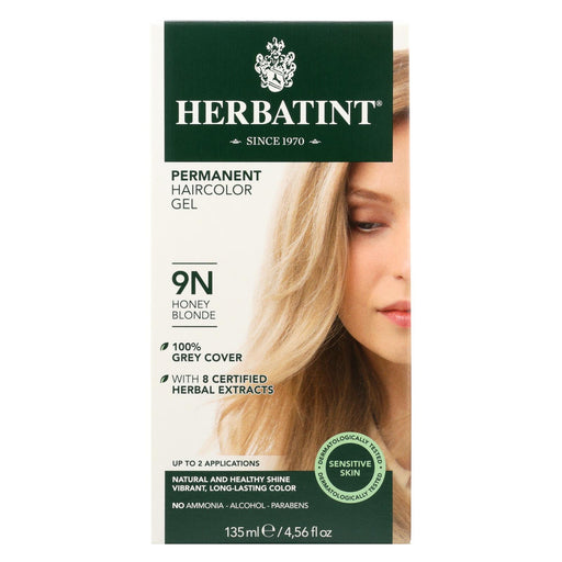 Herbatint Permanent Herbal Haircolour Gel 9n Honey Blonde - 135 Ml