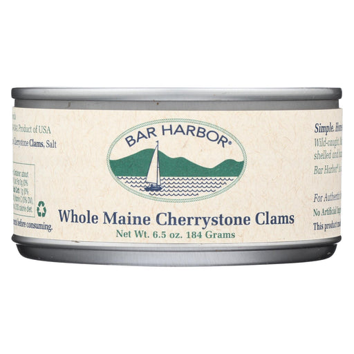 Bar Harbor Whole Maine Cherrystone Clams - Case Of 12 - 6.5 Oz.
