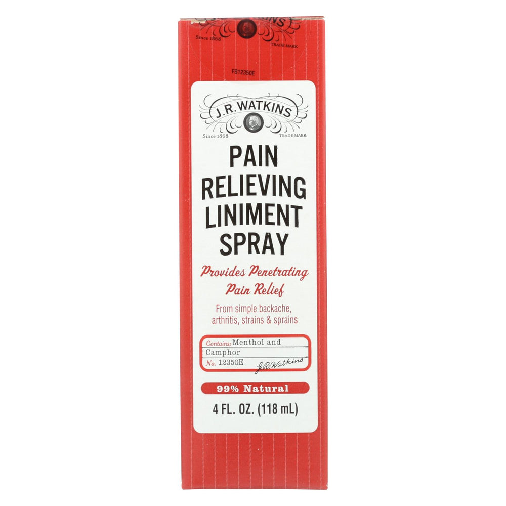 J.r. Watkins Natural Pain Relieving Liniment Spray - 4.0 Oz