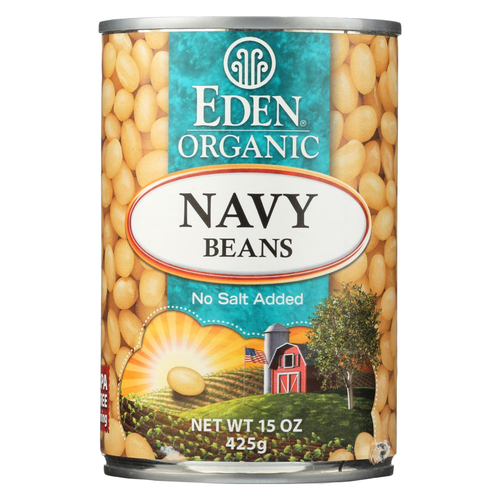 Eden Foods Navy Beans - Organic - Case Of 12 - 15 Oz.