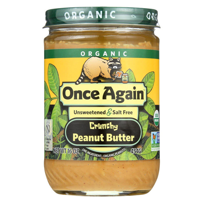 Once Again Organic No Salt Butter - Peanut - Case Of 12 - 16 Oz.