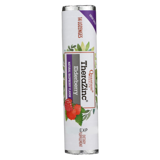 Quantum Zinc Lozenges Elderberry Raspberry - 1.2 Oz - Case Of 12