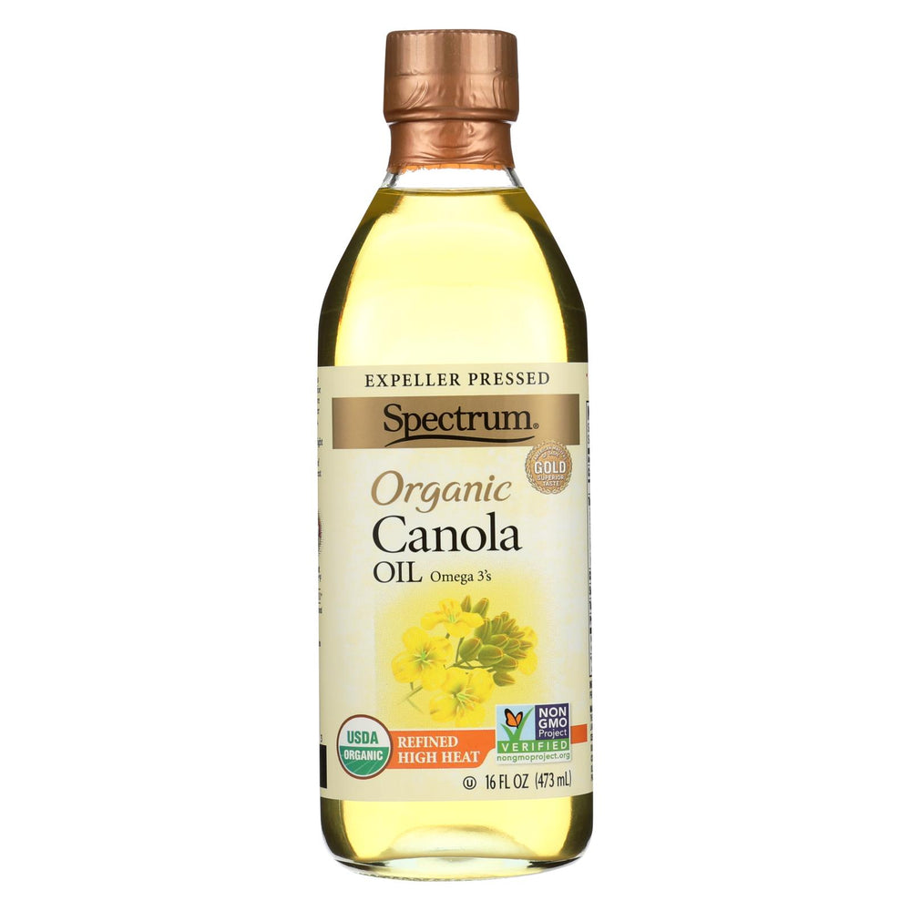 Spectrum Naturals Organic Refined Canola Oil - Case Of 12 - 16 Fl Oz.