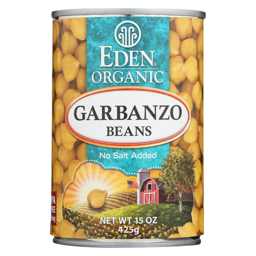 Eden Foods Organic Garbanzo Beans - Case Of 12 - 15 Oz.