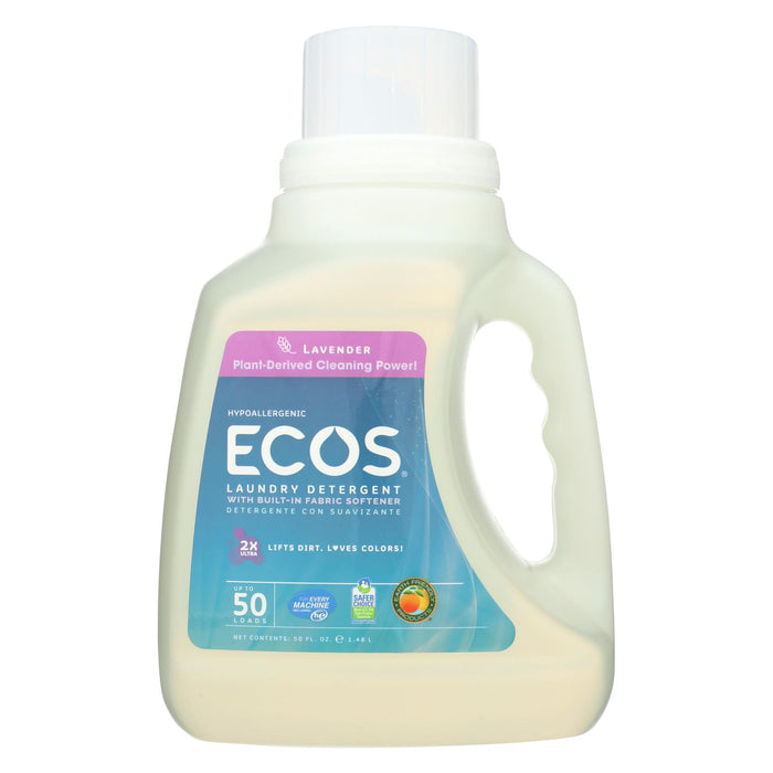 Earth Friendly 2x Ultra Laundry Detergent - Lavender - Case Of 8 - 50 Fl Oz.